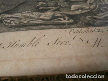 Arte: Antiguo grabado de W. HOGART 1755 - Foto 5 - 83641176