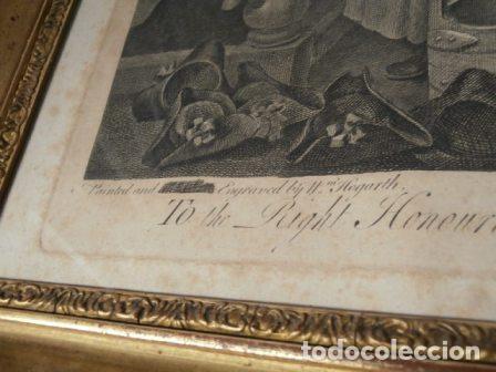 Arte: Antiguo grabado de W. HOGART 1755 - Foto 8 - 83641176
