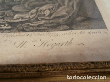 Arte: Antiguo grabado de W. HOGART 1755 - Foto 9 - 83641176
