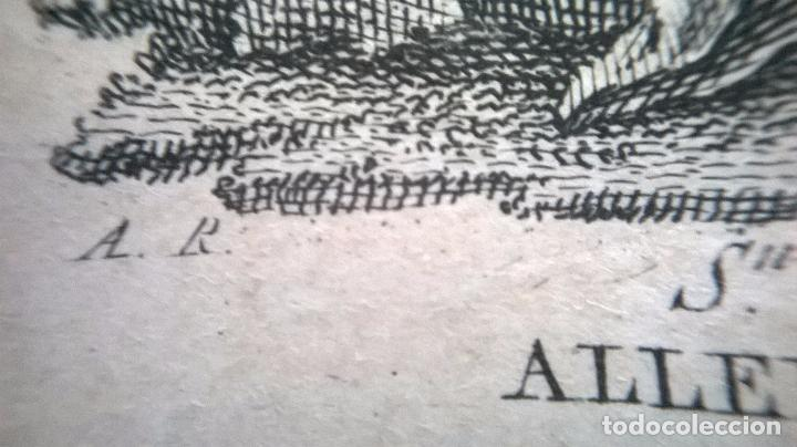 Arte: Grabado antiguo.Medida 7x10 cm - Foto 3 - 83848048