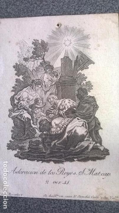 Arte: Grabado antiguo.Medida 7x10 cm - Foto 2 - 83909596