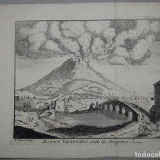 Arte: VISTA DEL VOLCÁN VESUBIO DE NÁPOLES (ITALIA, EUROPA), 1750. ANTONELLA BENNETT. Lote 83965712