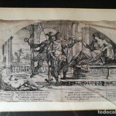 Arte: GRABADO ORIGINAL AÑO 1637 DE NICOLAS MIGNARD ...ODISEA DE HOMERO..AUTENTICO !!!. Lote 83967992