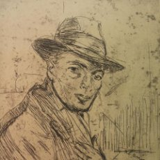 Arte: GRABADO DE JOSEP AMAT PAGÈS, REALIZADO POR JOAQUIN MIR TRINXET. 1928. Lote 84163124