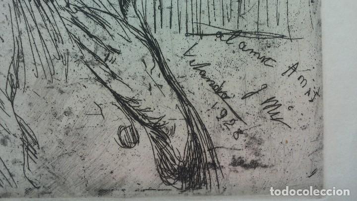 Arte: Grabado de Josep Amat Pagès, realizado por Joaquim Mir Trinxet. 1928 - Foto 3 - 84163124