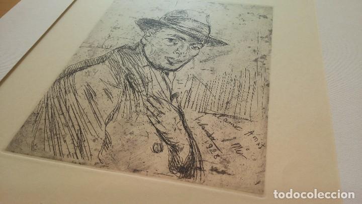 Arte: Grabado de Josep Amat Pagès, realizado por Joaquim Mir Trinxet. 1928 - Foto 4 - 84163124