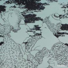 Arte: GRABADO ORIGINAL DE MANUEL ALCORLO, SIN TITULO, 1993. Lote 84190308