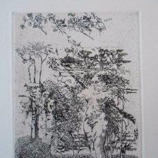 Arte: MARÍA ANTONIA SANCHEZ ESCALONA (MADRID, 1941-) GRABADO 20X29 PAPEL 34X49 FIRMADO Y 34/125 CAMISA POE. Lote 84468704