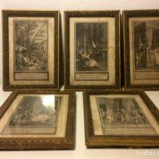 Arte: LOTE DE 5 GRABADOS DE ILUSTRACIONES DE LIBRO, S XIX ( PRIMERA MITAD). Lote 84615698
