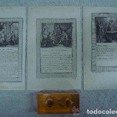 Arte: 3 GRABADOS DEL ANTIGUO TESTAMENTO. SIGLO XVIII. 22 X 14 CM. GRABADOR E. VOYSARD. Lote 84659036