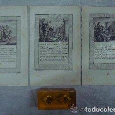Arte: 3 GRABADOS DEL ANTIGUO TESTAMENTO. SIGLO XVIII. 22 X 14 CM. GRABADOR E. VOYSARD. Lote 84660132
