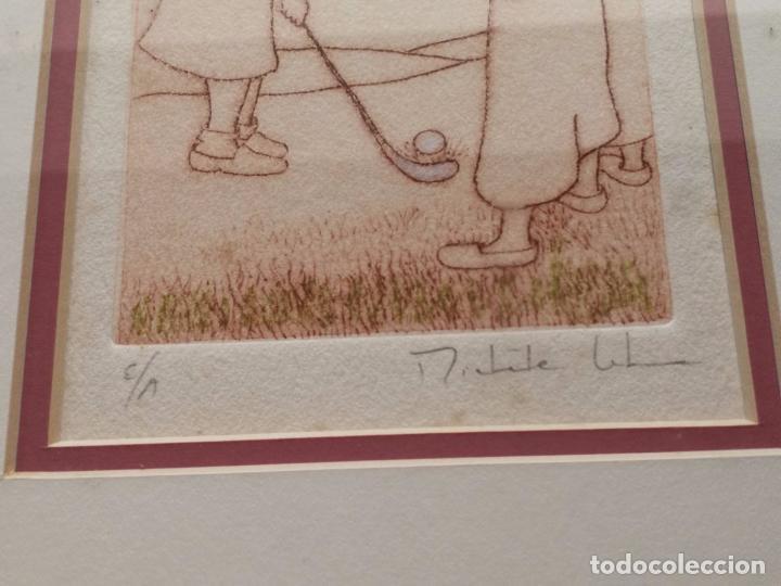 Arte: Fantastica pareja de grabados - Michele Lehmann - Firmados y numerados - Foto 2 - 203988661