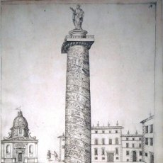 Arte: VISTA DE LA COLUMNA DE TRAJANO (ROMA), 1603. J.J. BOISARD/G. KELLER. Lote 84823964