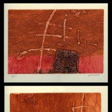 Arte: DOS GRABADOS ORIGINALES. FIRMADOS CUTANDA. Lote 85055188