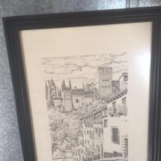 Arte: ESPECTACULAR GRABADO ENMARCADO AUTENTICO DE R,GALLARDO. Lote 85058104