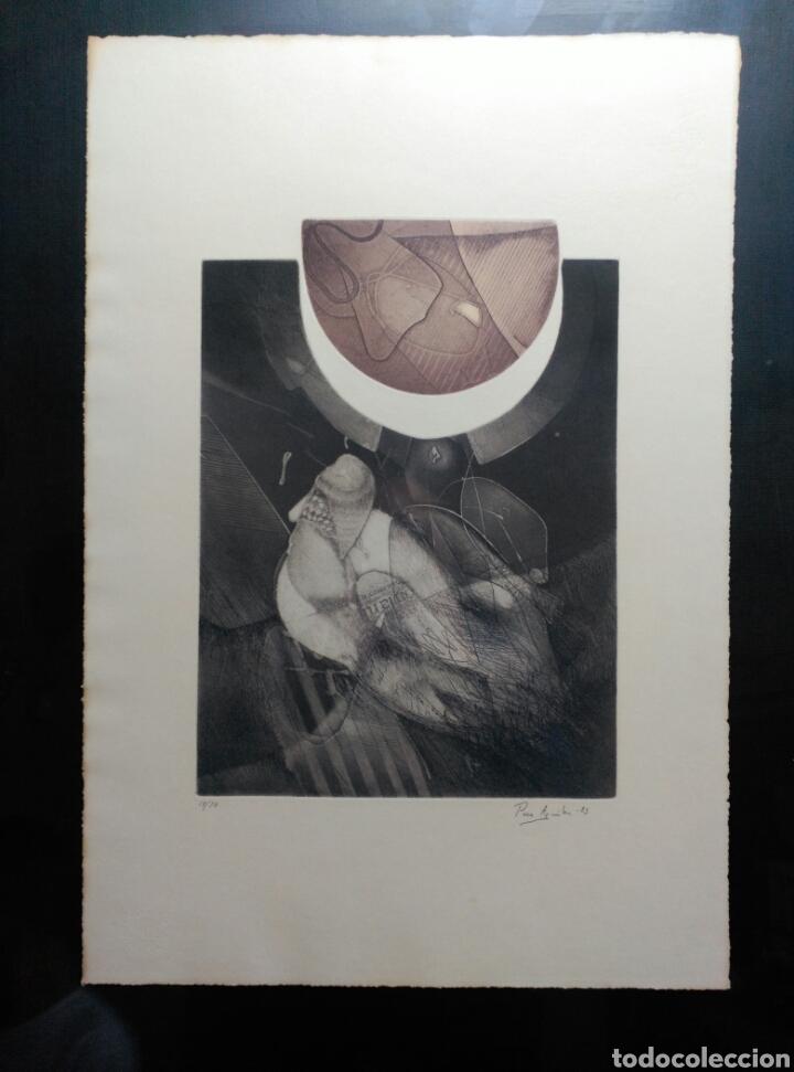 Arte: 13 Grabados Paco Aguilar, Rafael Alberti, Rafael Pérez Estrada carpeta de grabados ALOMA - Foto 2 - 85058274