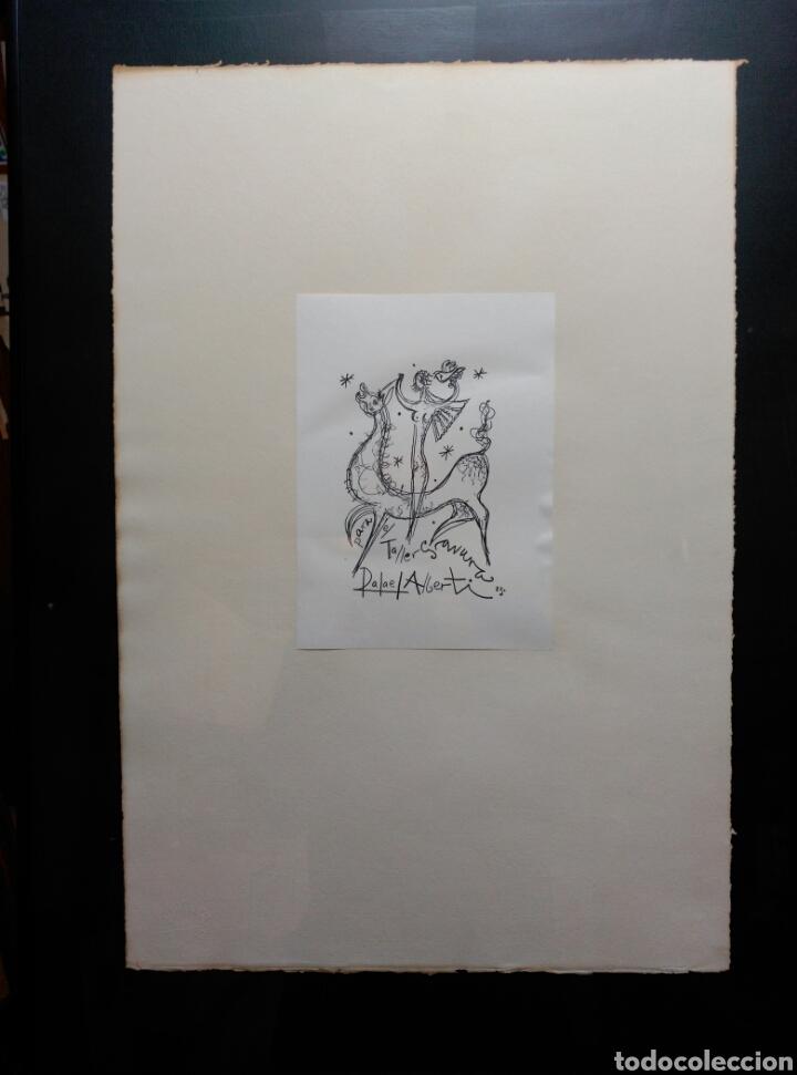 Arte: 13 Grabados Paco Aguilar, Rafael Alberti, Rafael Pérez Estrada carpeta de grabados ALOMA - Foto 9 - 85058274