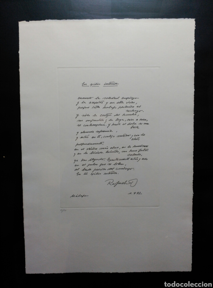 Arte: 13 Grabados Paco Aguilar, Rafael Alberti, Rafael Pérez Estrada carpeta de grabados ALOMA - Foto 13 - 85058274