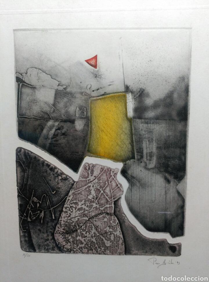 Arte: 13 Grabados Paco Aguilar, Rafael Alberti, Rafael Pérez Estrada carpeta de grabados ALOMA - Foto 17 - 85058274