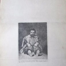 Arte: AGUAFUERTE ORIGINAL DEL ENANO DE FELIPE IV, SEBASTIAN DE MORRA, DE FRANC. GOYA, PINTOR. Lote 85108356