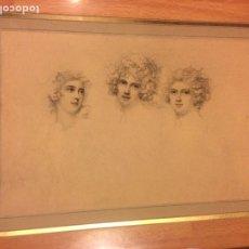 Arte: ANTIGUO GRABADO TRES MUJERES.25 X 17 CM. Lote 85163812