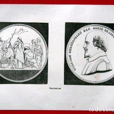 Arte: SHAKESPEARE - GRABADO ORIGINAL DE 1856 - 182X134MM. Lote 85248720