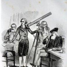 Arte: LA ASTROLOGIA Y LA ASTRONOMIA - GRABADO ORIGINAL DE 1856 - 240X150MM. Lote 85314140