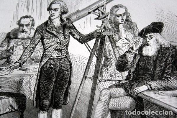 Arte: LA ASTROLOGIA Y LA ASTRONOMIA - GRABADO ORIGINAL DE 1856 - 240x150mm - Foto 3 - 85314140