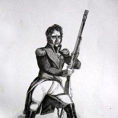 Arte: MICHEL NEY - EL VALIENTE ENTRE LOS VALIENTES - GRABADO ORIGINAL DE 1856 - 240X155MM. Lote 85340996