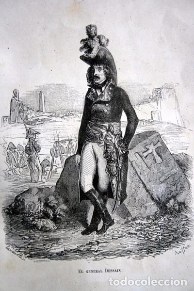 EL GENERAL DESSAIX - GRABADO ORIGINAL DE 1856 - 240X153MM (Arte - Grabados - Modernos siglo XIX)