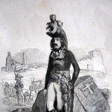 Arte: EL GENERAL DESSAIX - GRABADO ORIGINAL DE 1856 - 240X153MM. Lote 85344252