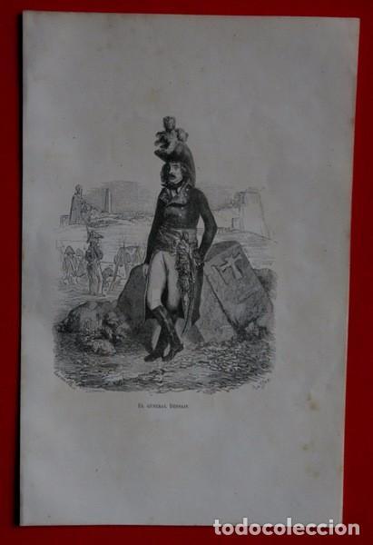 Arte: EL GENERAL DESSAIX - GRABADO ORIGINAL DE 1856 - 240x153mm - Foto 2 - 85344252