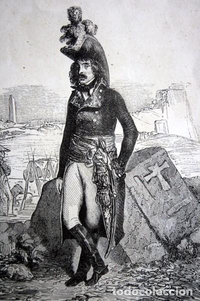 Arte: EL GENERAL DESSAIX - GRABADO ORIGINAL DE 1856 - 240x153mm - Foto 3 - 85344252