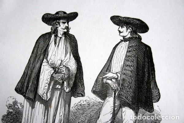Arte: TIPOS DE LOS SICULOS - GRABADO ORIGINAL DE 1856 - 240x148mm - Foto 3 - 85375240