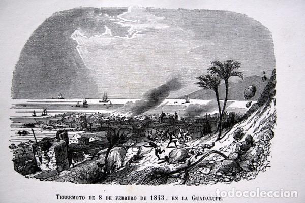 Arte: TERREMOTO 8 FEBRERO 1843 EN LA GUADALUPE - CARIBE - GRABADO ORIGINAL DE 1856 - 240x148mm - Foto 3 - 85381732