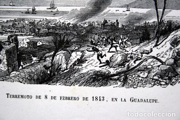 Arte: TERREMOTO 8 FEBRERO 1843 EN LA GUADALUPE - CARIBE - GRABADO ORIGINAL DE 1856 - 240x148mm - Foto 4 - 85381732
