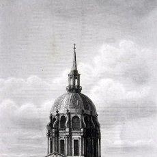 Arte: TEMPLO DE LOS INVALIDOS - SEPULCRO DE NAPOLEON I - GRABADO ORIGINAL DE 1856 - 240X153MM. Lote 85413064