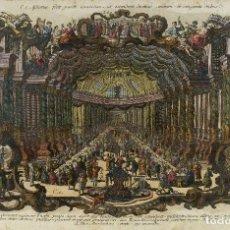 Arte: GRABADO COLOREADO ALEMÁN HISTORIA BÍBLICA GRABADO POR KLAUBER CATH. SIGLO XVIII. Lote 85421732