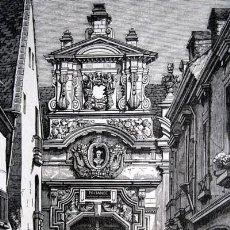 Arte: PRITANEO IMPERIAL MILITAR - LA FLECHE - FRANCIA - GRABADO ORIGINAL DE 1856 - 229X133MM. Lote 85424336