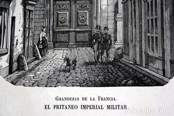 Arte: PRITANEO IMPERIAL MILITAR - LA FLECHE - FRANCIA - GRABADO ORIGINAL DE 1856 - 229x133mm - Foto 3 - 85424336