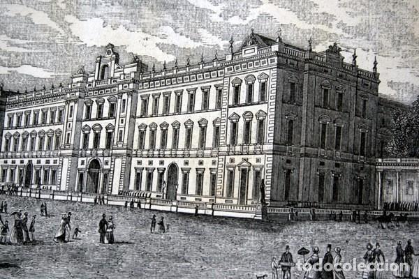 Arte: PALACIO DE BUCKINGHAM - GRABADO ORIGINAL DE 1856 - 240x154mm - Foto 3 - 85426380