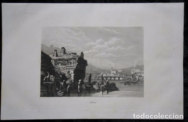 IRUN - GRABADO ORIGINAL DE 1854 - 245X155MM (Arte - Grabados - Modernos siglo XIX)