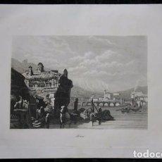 Arte: IRUN - GRABADO ORIGINAL DE 1854 - 245X155MM. Lote 85536776