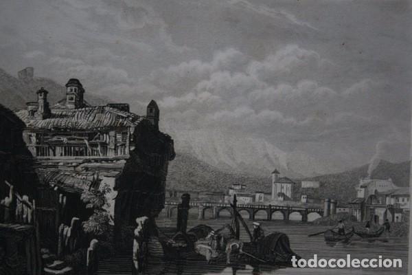 Arte: IRUN - GRABADO ORIGINAL DE 1854 - 245x155mm - Foto 2 - 85536776