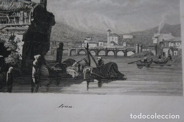 Arte: IRUN - GRABADO ORIGINAL DE 1854 - 245x155mm - Foto 3 - 85536776
