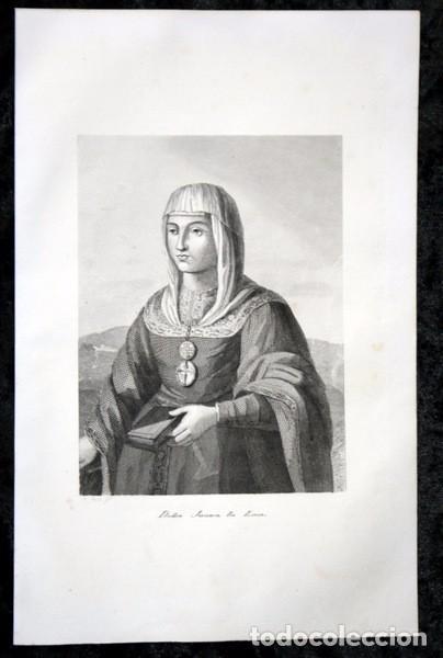 Arte: DOÑA JUANA LA LOCA - GRABADO ORIGINAL DE 1854 - 240x156mm - Foto 2 - 85537732