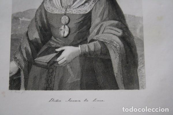Arte: DOÑA JUANA LA LOCA - GRABADO ORIGINAL DE 1854 - 240x156mm - Foto 3 - 85537732