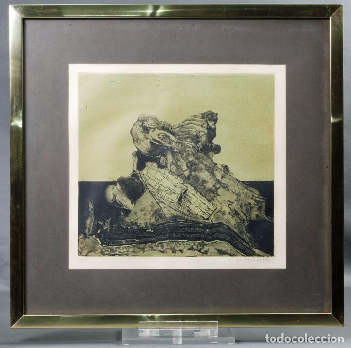 GRABADO COMPOSICIÓN FIRMADO LUCIO MUÑOZ 1974 [11/50] (Arte - Grabados - Contemporáneos siglo XX)