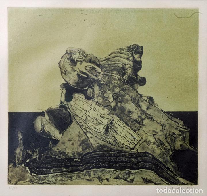 Arte: Grabado composición firmado Lucio Muñoz 1974 [11/50] - Foto 2 - 86091488