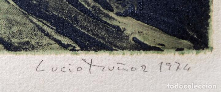 Arte: Grabado composición firmado Lucio Muñoz 1974 [11/50] - Foto 6 - 86091488